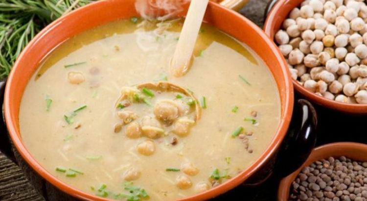 Μαροκινή σούπα με ρεβίθια και φακές